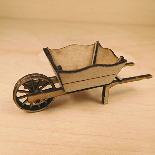 <p>This set contains parts to assemble a box-sided wheelbarrow, used for earth/coal/potatoes/gardening purposes. <br />