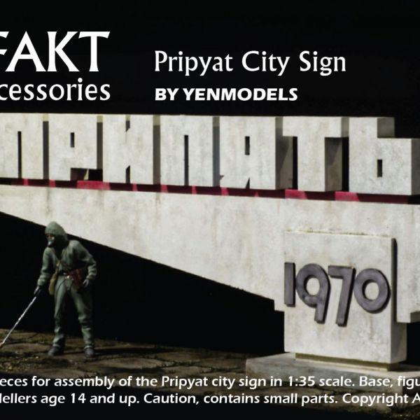 ART35005 Pripyat City Sign