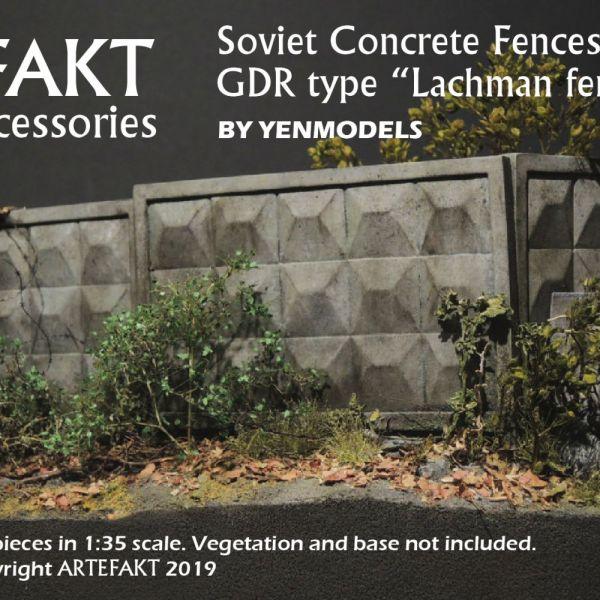 ART35004 Soviet Concrete Fences