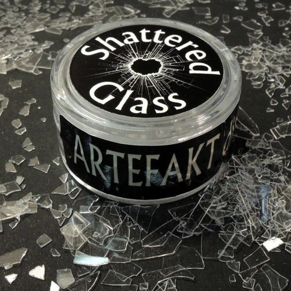 "<p>Ultra-realistic, in-scale and safe-to-use ""glass"" to replicate broken window-glass in ruined buildings or vehicles.<br />