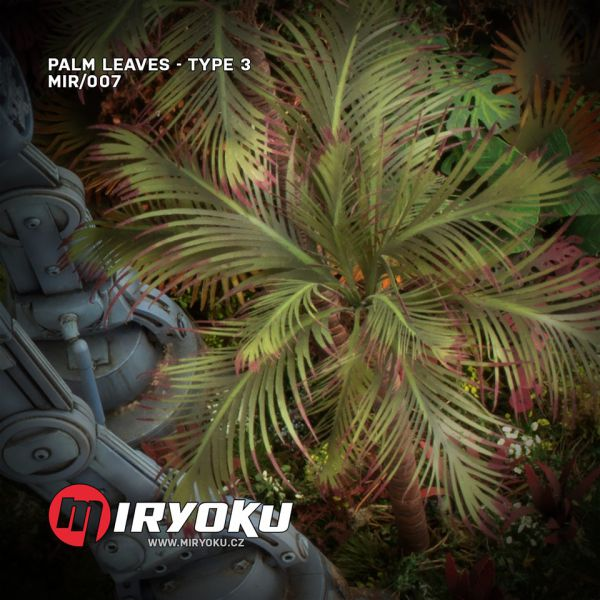 <p>This set contains 7 palm leaves, precision-cut from strong and flexible, transparent foil.<br /> <br /> This material is easy and quick to work with and yields highly realistic results. It takes glue and paint well and is unbreakable.</p>